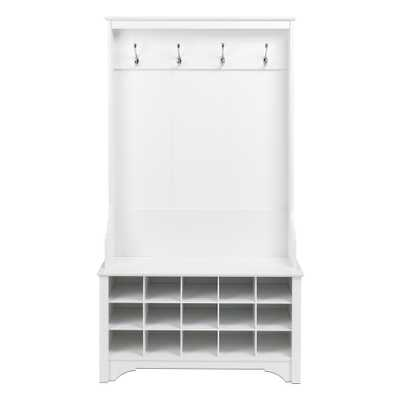 White Hall Tree with Shoe Storage - Home Depot
