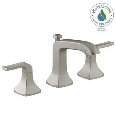 KOHLER Rubicon 8 in. Widespread 2-Handle Bathroom Faucet in Vibrant Brushed Nickel - Home Depot