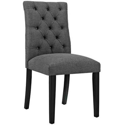 Duchess Gray Fabric Dining Chair - Home Depot