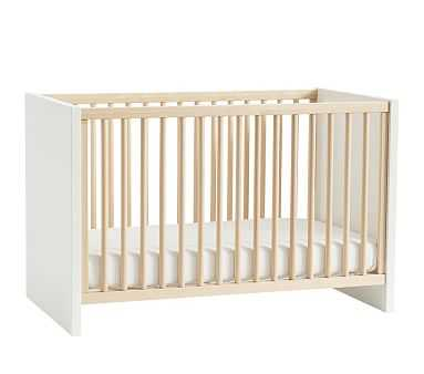 Layton Crib, Natural/Simply White, Flat Rate - Pottery Barn Kids