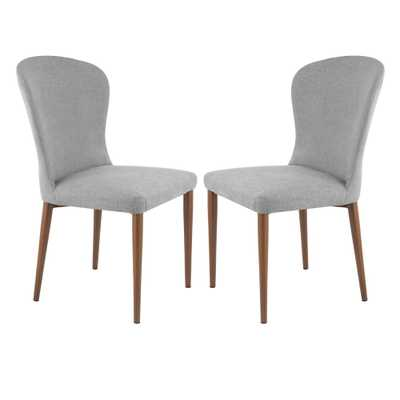 Creston Grey Dining Chair (Set of 2) - Home Depot