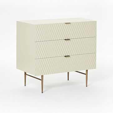 Audrey 3-Drawer Dresser, Parchment - West Elm