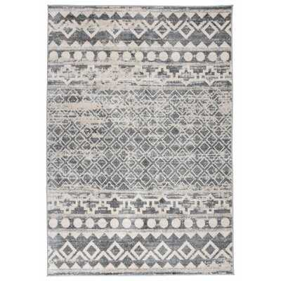 Traditional Distressed Bohemian Gray 2'X3' Accent Rug - Wayfair