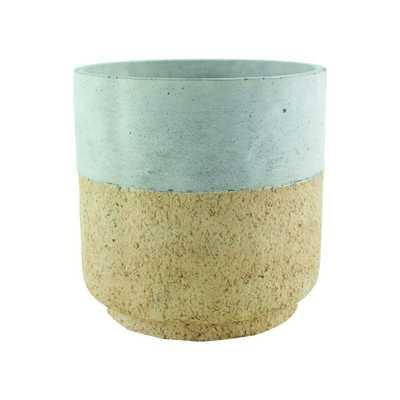 Modern Cork (Brown) 6-7/8 in. Concrete Cylinder Planter - Home Depot