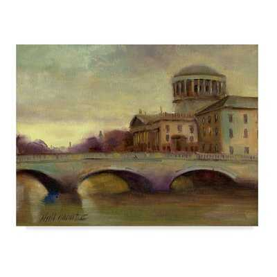 'Liffey River Ireland' Acrylic Painting Print on Wrapped Canvas - Wayfair