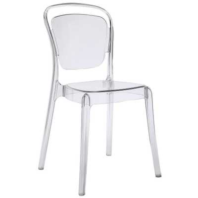 Entreat Clear Dining Side Chair - Home Depot