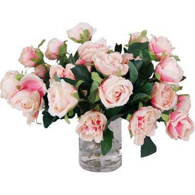 Rose Centerpiece in Decorative Vase - Birch Lane