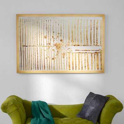'Love Force Field Gold' Framed Graphic Art Print - Wayfair