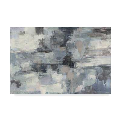 'In the Clouds Indigo and Gray' Acrylic Painting Print on Wrapped Canvas - Wayfair