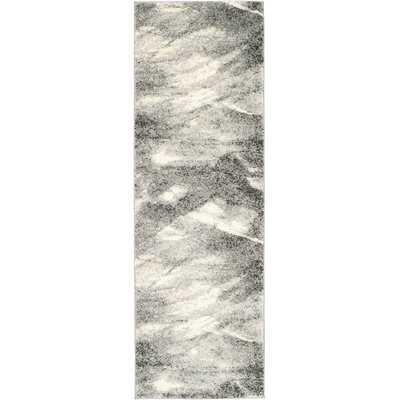 Kruse Abstract Gray/Ivory Area Rug - AllModern