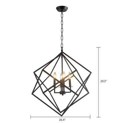 Y Decor 4 Light Black Chandelier - Home Depot