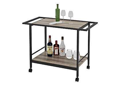 Union Rustic Stacy Bar Cart - eBay