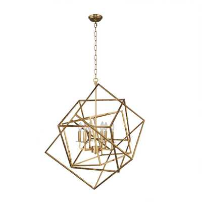 AA Warehousing 6-Light Gold Candle Style Chandelier - Home Depot