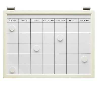 Magnetic Whiteboard Calendar, White - Pottery Barn