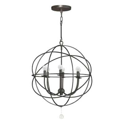 Home Decorators Collection Solaris Collection 6-Light English Bronze Orb Chandelier - Home Depot