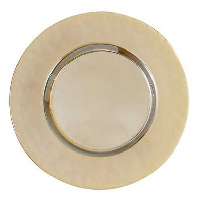 13 in. Luster Gold Glass Charger (Set of 4) - Home Depot
