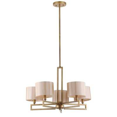 Safavieh Catena 5-Light Antique Gold Chandelier - Home Depot