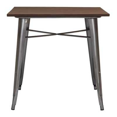 StyleWell Finwick Gunmetal Gray Metal Square Dining Table for 4 (31.5 in. L x 29.13 in. H), Grey - Home Depot