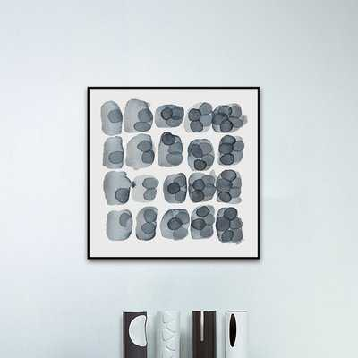 'Indigo Five' Floater Framed Print on Canvas - Wayfair