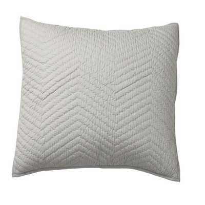 Company Gray Cotton Euro Sham - Home Depot