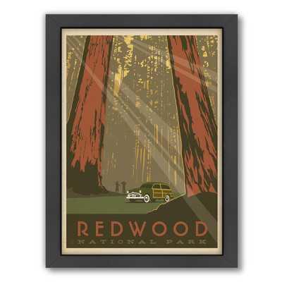 Redwood National Park Framed Vintage Advertisement - Wayfair