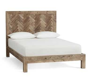 Hensley Reclaimed Wood Bed, Queen, Weathered Gray - Pottery Barn