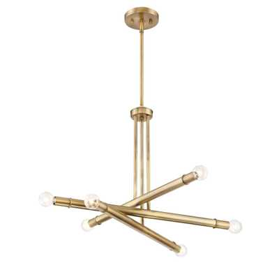 Designers Fountain Emmett 6-Light Old Satin Brass Chandelier - Home Depot