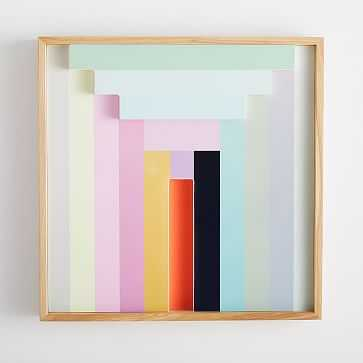 Margo Selby Colorblock Lacquer Wall Art, Light Green - West Elm