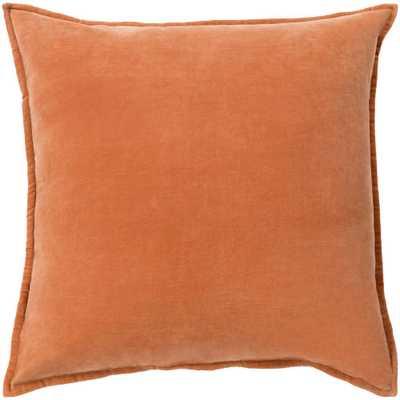 Velizh Poly Euro Pillow, Orange - Home Depot