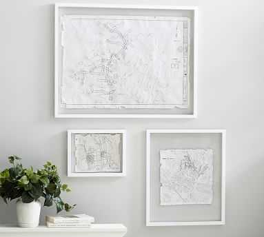 """Floating Wood Gallery Frame, White - 28 x 36"""" - Pottery Barn"""
