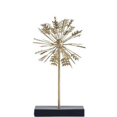 Mercana Spicum I (Small) Decorative Object, Gold - Home Depot