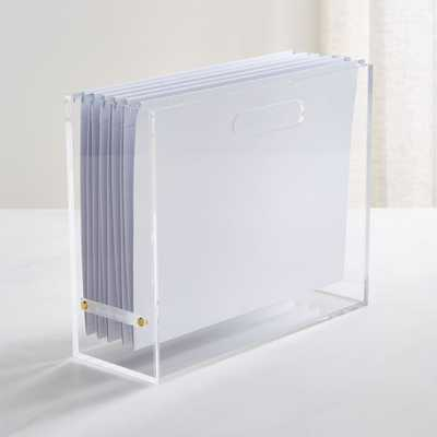 Russell + Hazel Slim Acrylic File Box - Crate and Barrel