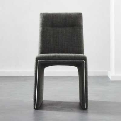 Silver Lining Grey Armless Dining Chair - CB2