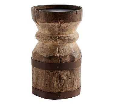 Axel Eclectic Wood Candleholders - Large - Pottery Barn