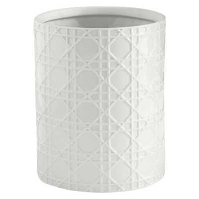 Rattan Wastebasket White - Kassatex - Target