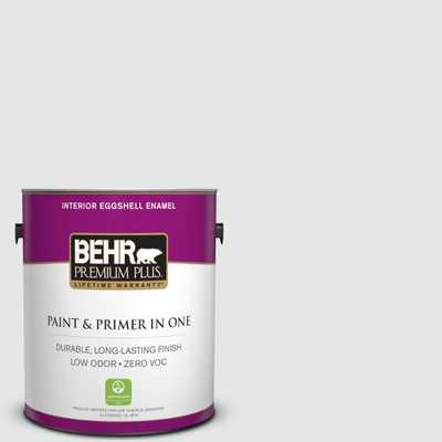 BEHR Premium Plus 1 gal. #770E-1 Quietude Eggshell Enamel Zero VOC Interior Paint and Primer in One - Home Depot