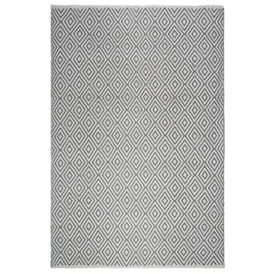Veria - Indoor/ Outdoor Gray and White (8 ft. x 10 ft. ) - PET Area Rug - Home Depot
