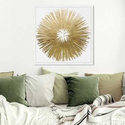 Sunburst Golden Framed Art - Wayfair