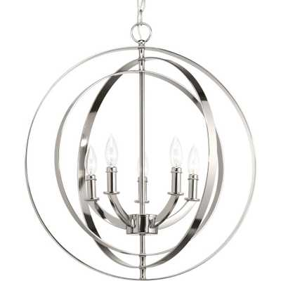 Progress Lighting Equinox 5-Light Polished Nickel Orb Chandelier - Home Depot