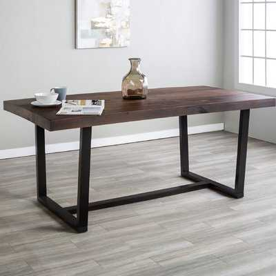 Neely Distressed Solid Wood Dining Table - Wayfair
