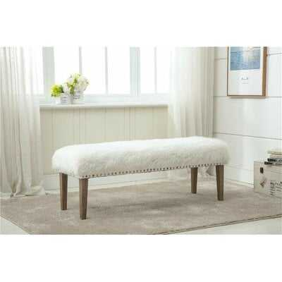 Medeiros Upholstered Bench - Wayfair