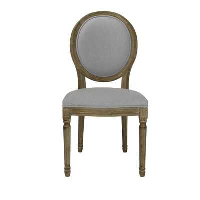 Home Accents Alliance Louis Weathered Grey Wooden Round Back Dining Chair (Set of 2) - Home Depot