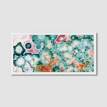 "Framed Print, Multi Geode, 24"" x 48"" - West Elm"