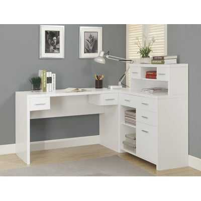 Milford L-Shaped Desk with Hutch - AllModern