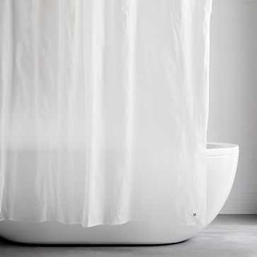 "Shower Curtain Liner, 72""x72"", Clear - West Elm"