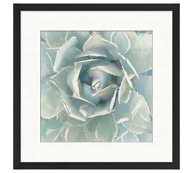 """Succulent Watercolor Framed Print, 23 x 23"""" - Pottery Barn"""