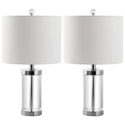 Safavieh Laurie 21 in. Clear Crystal Table Lamp (Set of 2) - Home Depot