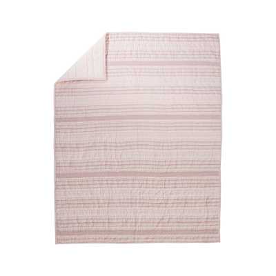 Pattern Play Pink Baby Quilt - Crate and Barrel