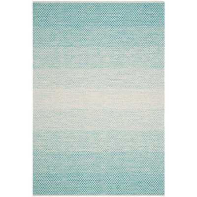 Montauk Turquoise/Ivory 8 ft. x 10 ft. Area Rug - Home Depot