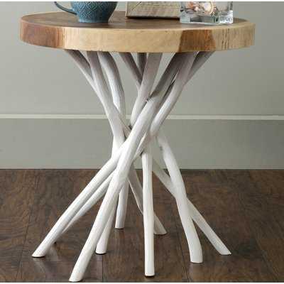 Stilwell Solid Wood Tree Stump End Table - Birch Lane